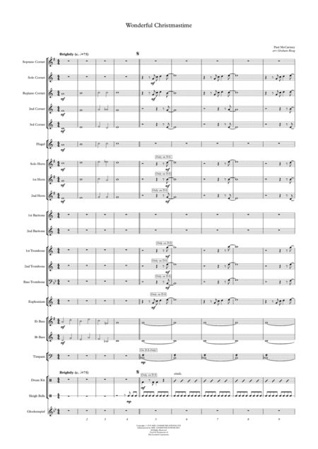 Wonderful Christmastime for Brass Band