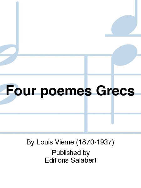 Four poemes Grecs