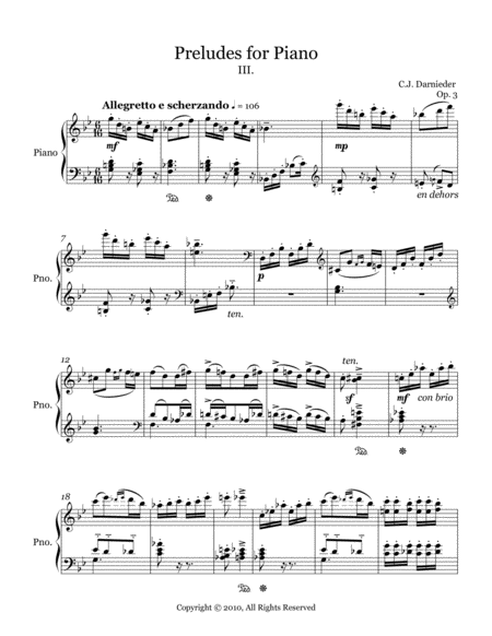 Preludes for Piano - III.