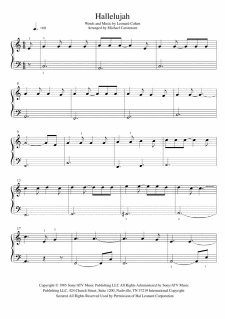 Hallelujah - Piano Tutorial Easy