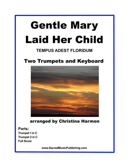 Gentle Mary Laid Her Child - Two Trumpets and Organ