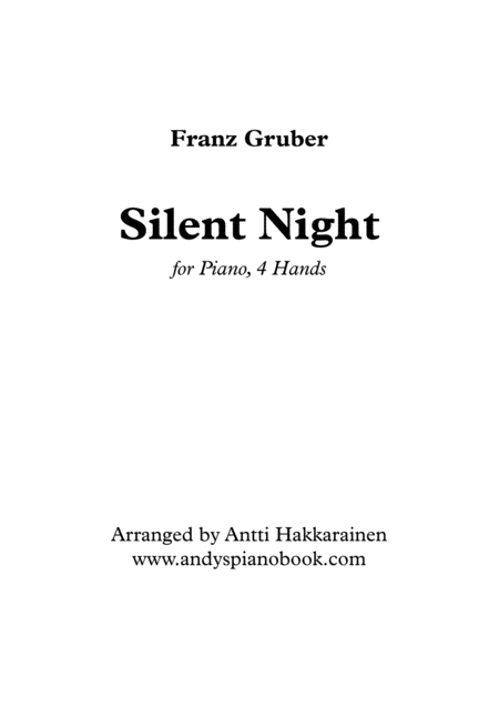 Silent Night - Piano, 4 Hands