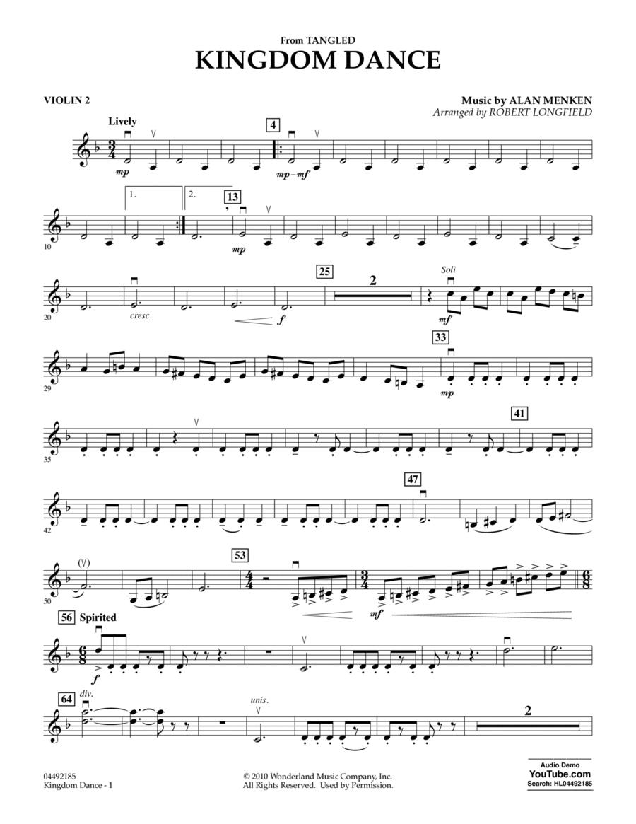 Kingdom Dance (from Tangled) - Violin 2