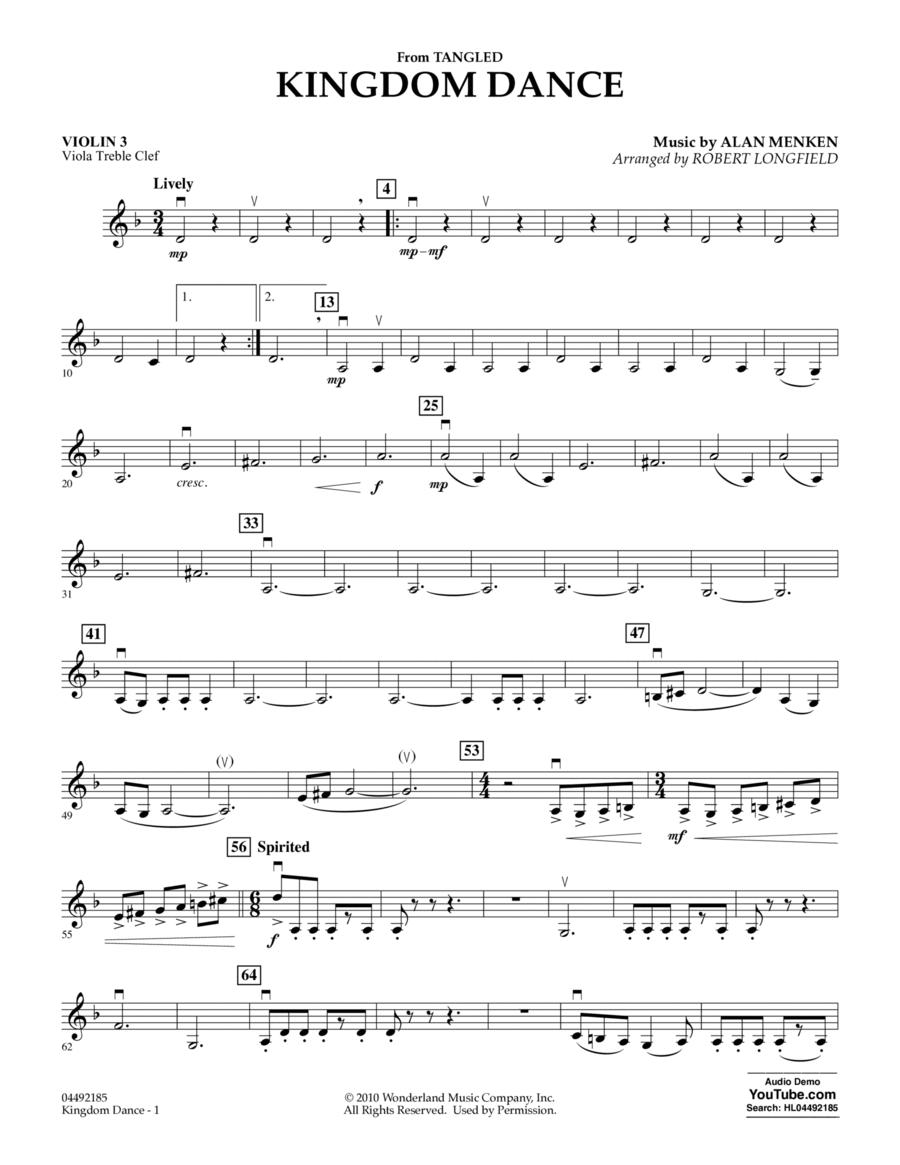 Kingdom Dance (from Tangled) - Violin 3 (Viola Treble Clef)