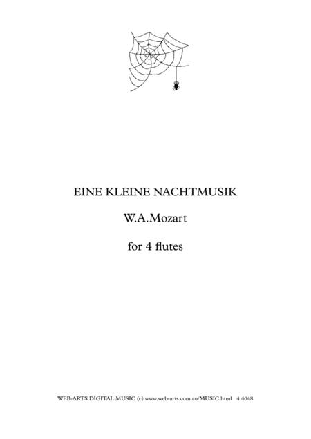MOZART EINE KLEINE NACHTMUSIK for 4 flutes