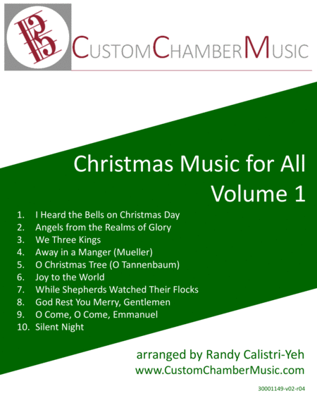 Christmas Carols for All, Volume 1