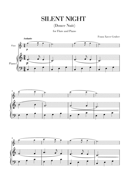 Silent Night (for Flute and Piano)
