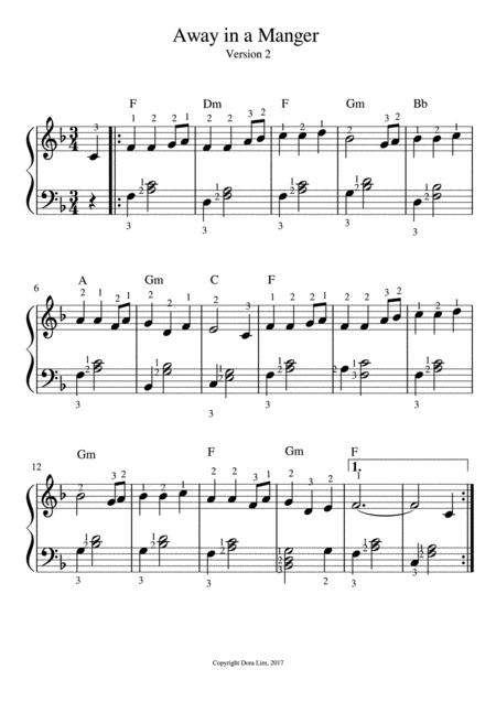 Away in a Manger - Harp (Version 2)