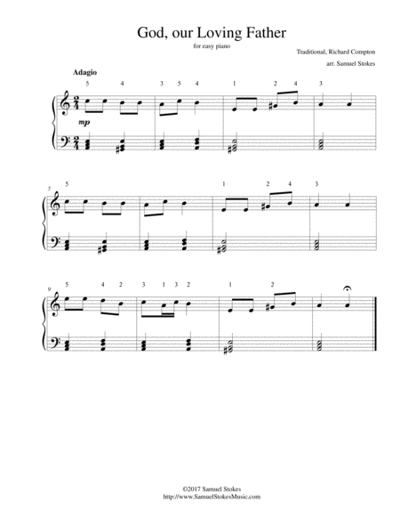God, our Loving Father - for easy piano
