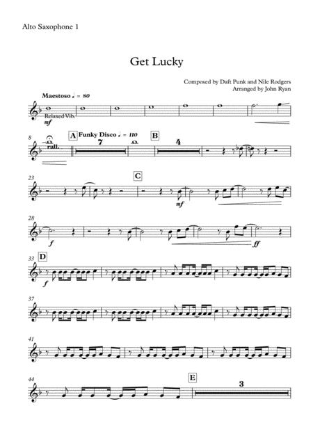 Get Lucky, Saxophone Quartet (AATB)