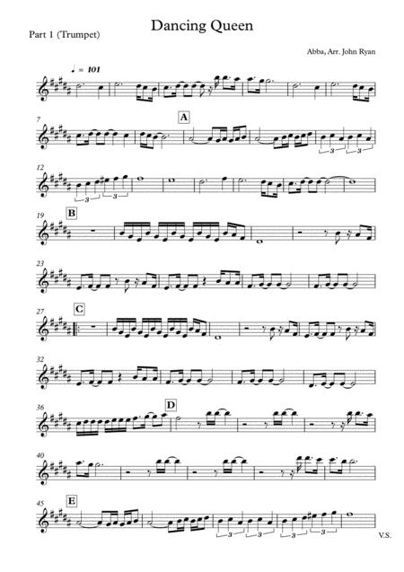 Dancing Queen, Wedding Band Arrangement (Horns + Rhythm)