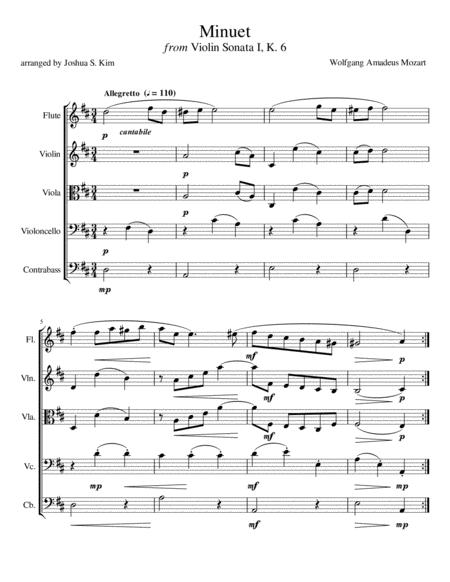 Minuet for String Ensemble & Flute (K. 6)