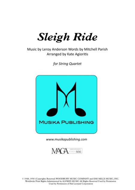 Sleigh Ride - for String Quartet