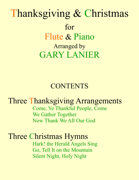 THANKSGIVING & CHRISTMAS (Flute and Piano with Score & Parts)