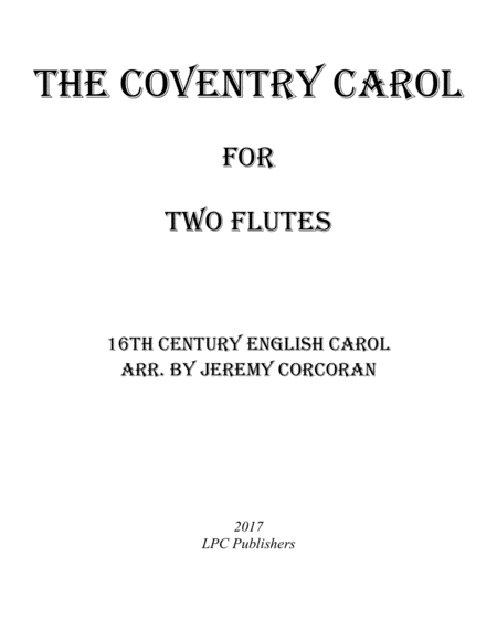 The Coventry Carol for Two Flutes