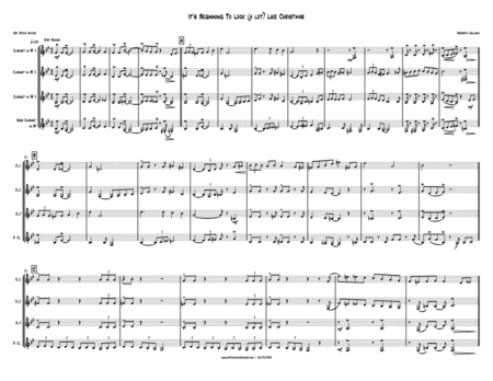 It's Beginning To Look Like Christmas - CLARINET QUARTET 3 sop + bs cl