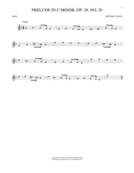 Prelude, Op. 28, No. 20