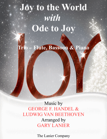 JOY TO THE WORLD with ODE TO JOY (Trio - Flute, Bassoon with Piano & Score/Part)