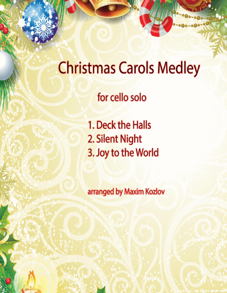 Christmas Carols Medley for cello solo