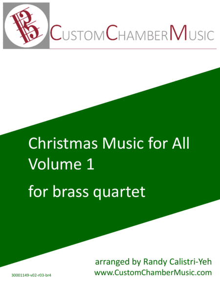 Christmas Carols for All, Volume 1 (for Brass Quartet)