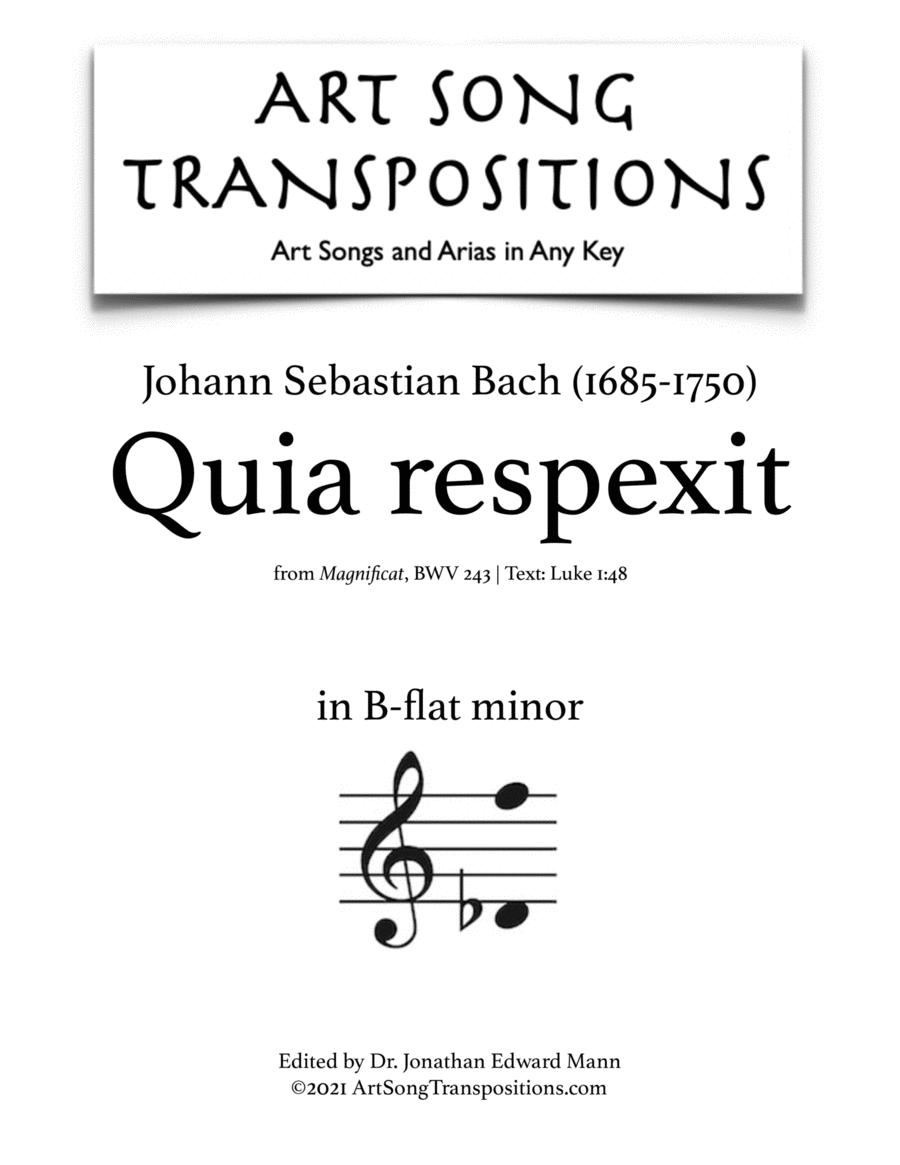 Quia respexit, BWV 243 (B-flat minor)