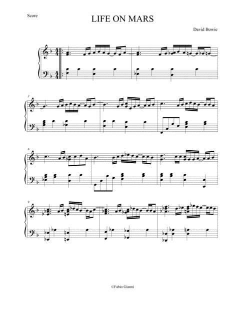 Life On Mars (piano solo)