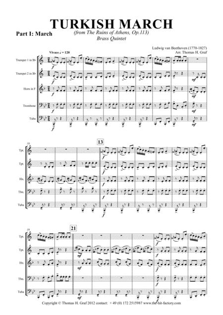 Turkish March & Laendler - Beethoven - Brass Quintet