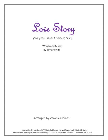 Love Story for String Trio (Violin 1, Violin 2, Cello)