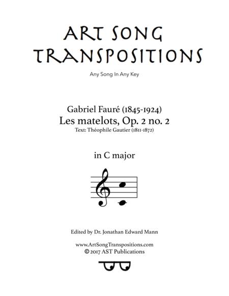Les matelots, Op. 2 no. 2 (C major)