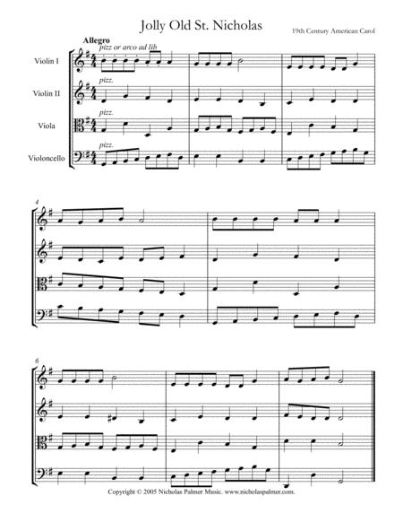 Jolly old Saint Nicholas - easy string quartet