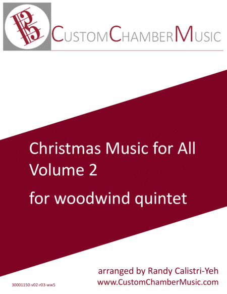 Christmas Carols for All, Volume 2 (for Woodwind Quintet)