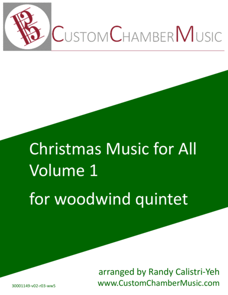 Christmas Carols for All, Volume 1 (for Woodwind Quintet)