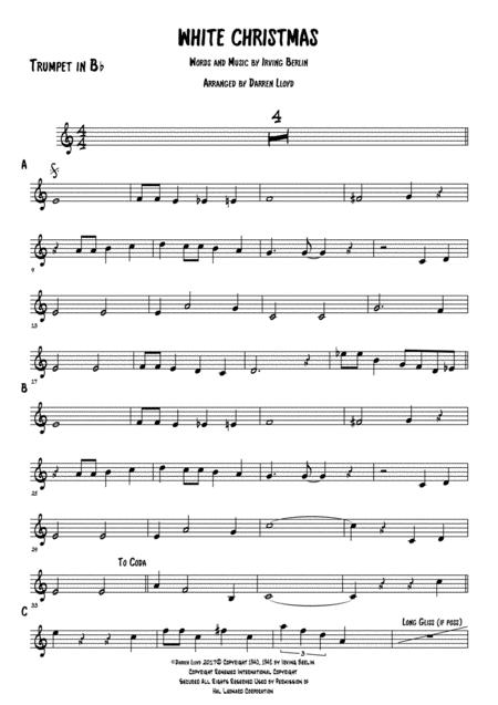 White Christmas for Dixieland band