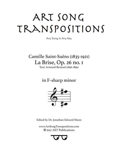 La Brise, Op. 26 no. 1 (F-sharp minor)