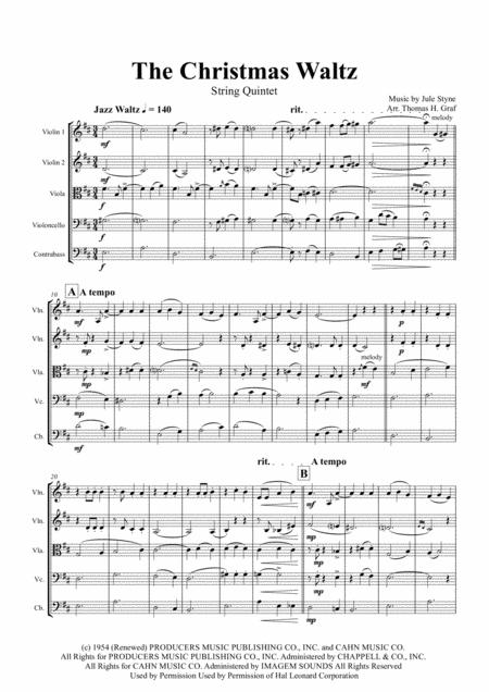 The Christmas Waltz - Frank Sinatra - String Quartet