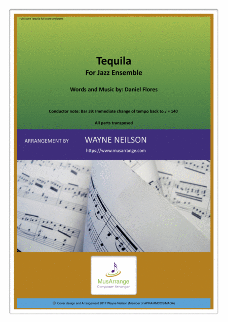 Tequila for Jazz Ensemble