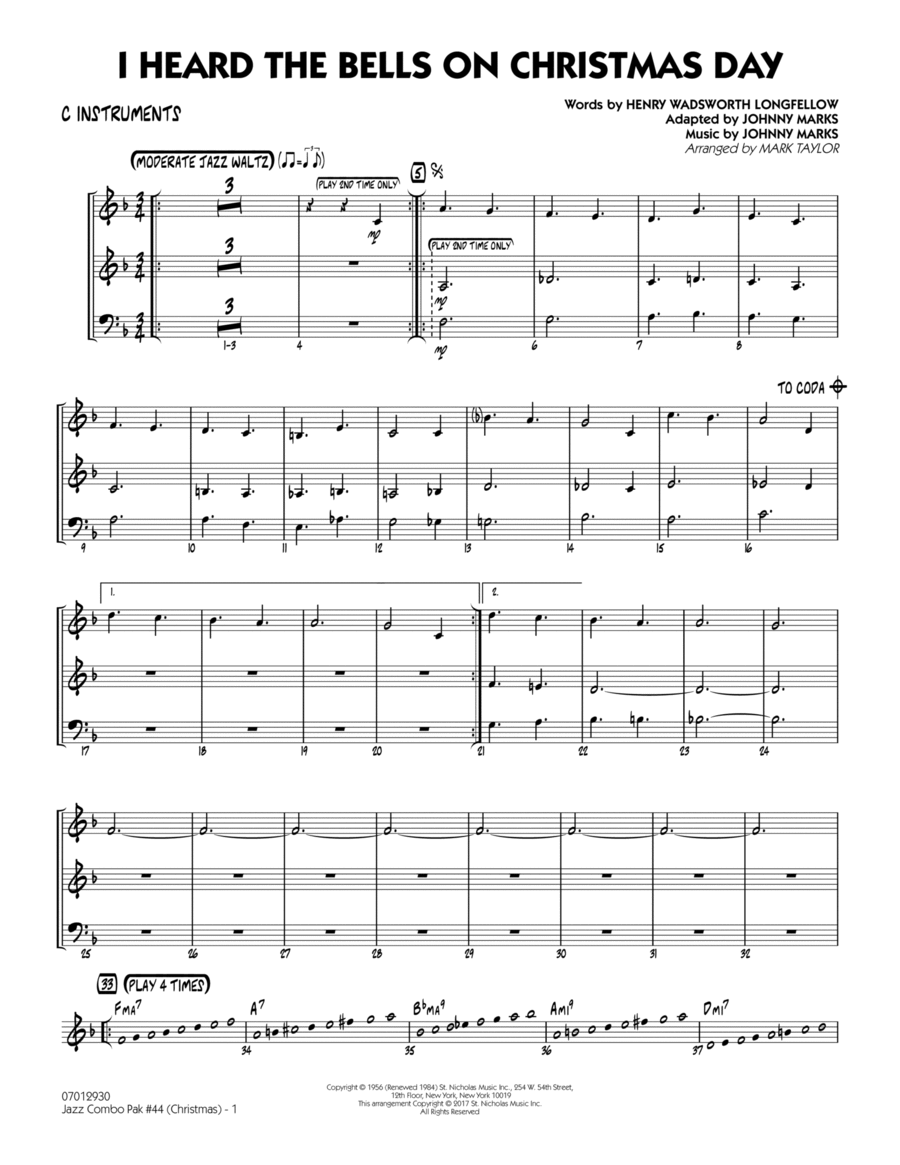 Jazz Combo Pak #44 (Christmas) - C Instruments