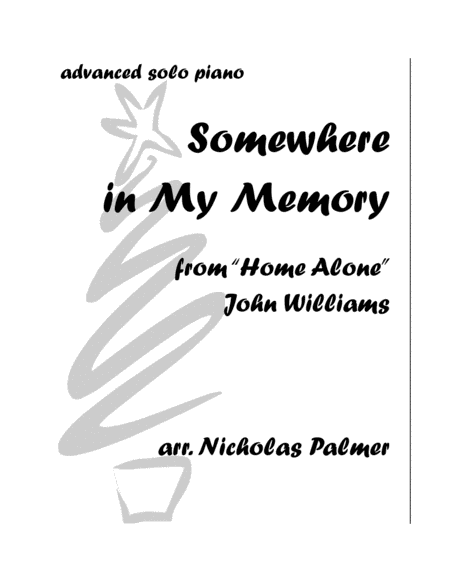 Somewhere In My Memory - advanced piano