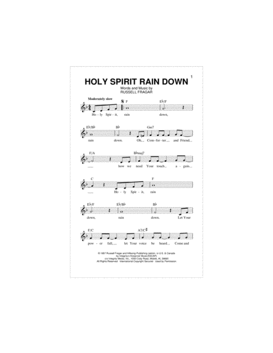 Holy Spirit Rain Down
