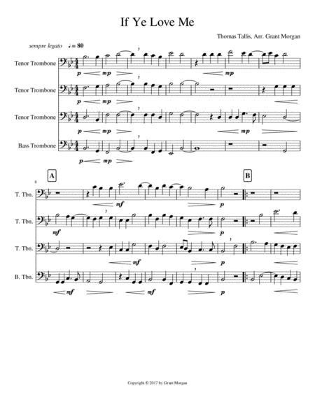If Ye Love Me - Trombone Quartet