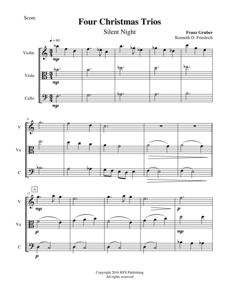 Four Christmas Trios for Strings