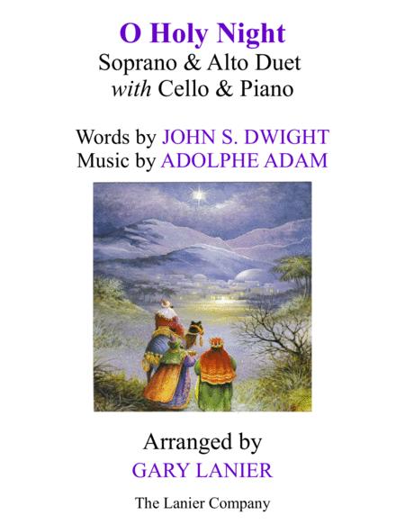 O HOLY NIGHT (Soprano, Alto Duet with Cello & Piano - Score & Parts included)