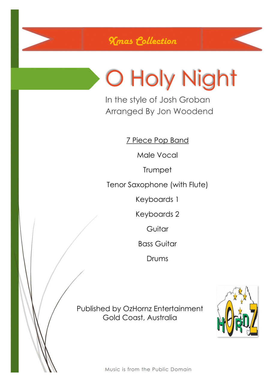 O Holy Night - Male Vocal, 2 Horns, 5 Rhythm.