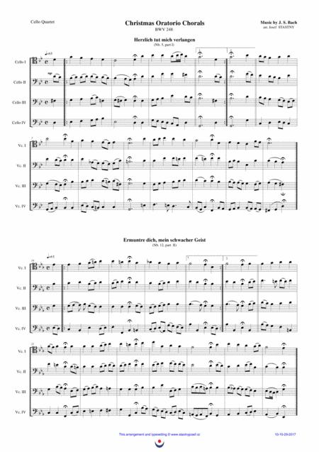 Christmas Oratorio Chorals (J.S. Bach)