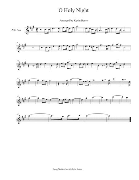 O Holy Night - Alto Sax