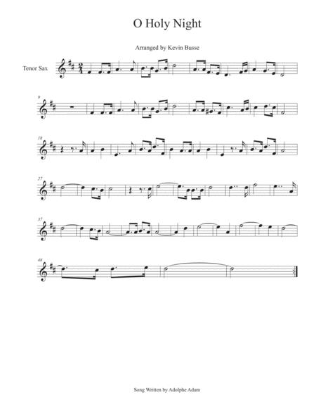 O Holy Night - Tenor Sax