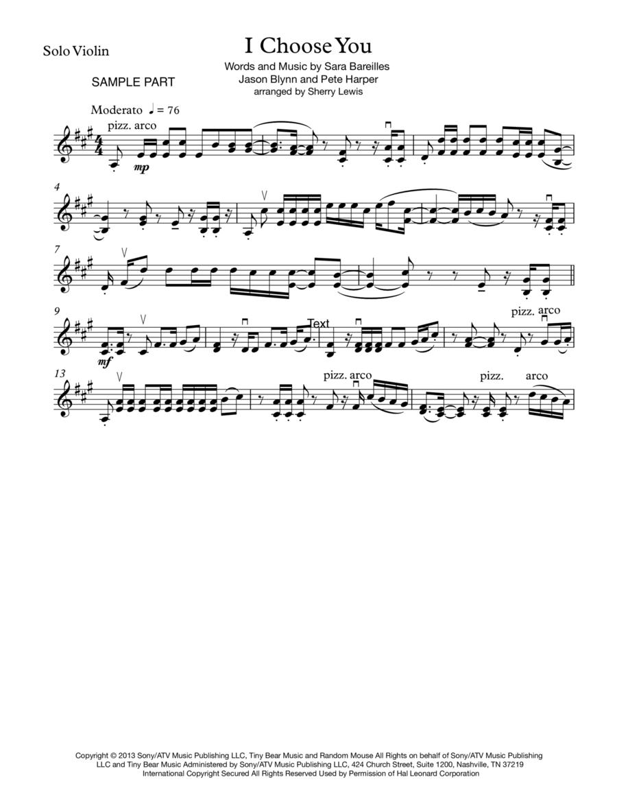 I Choose You for SOLO VIOLIN