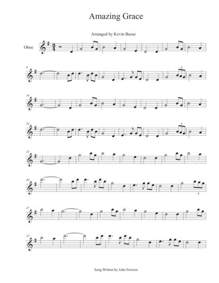 Amazing Grace - Oboe