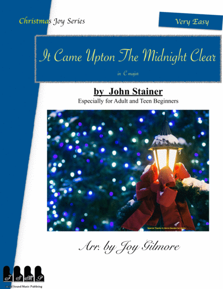 Christmas Joy Series: It Came Upon the Midnight Clear arr. for adult beginners