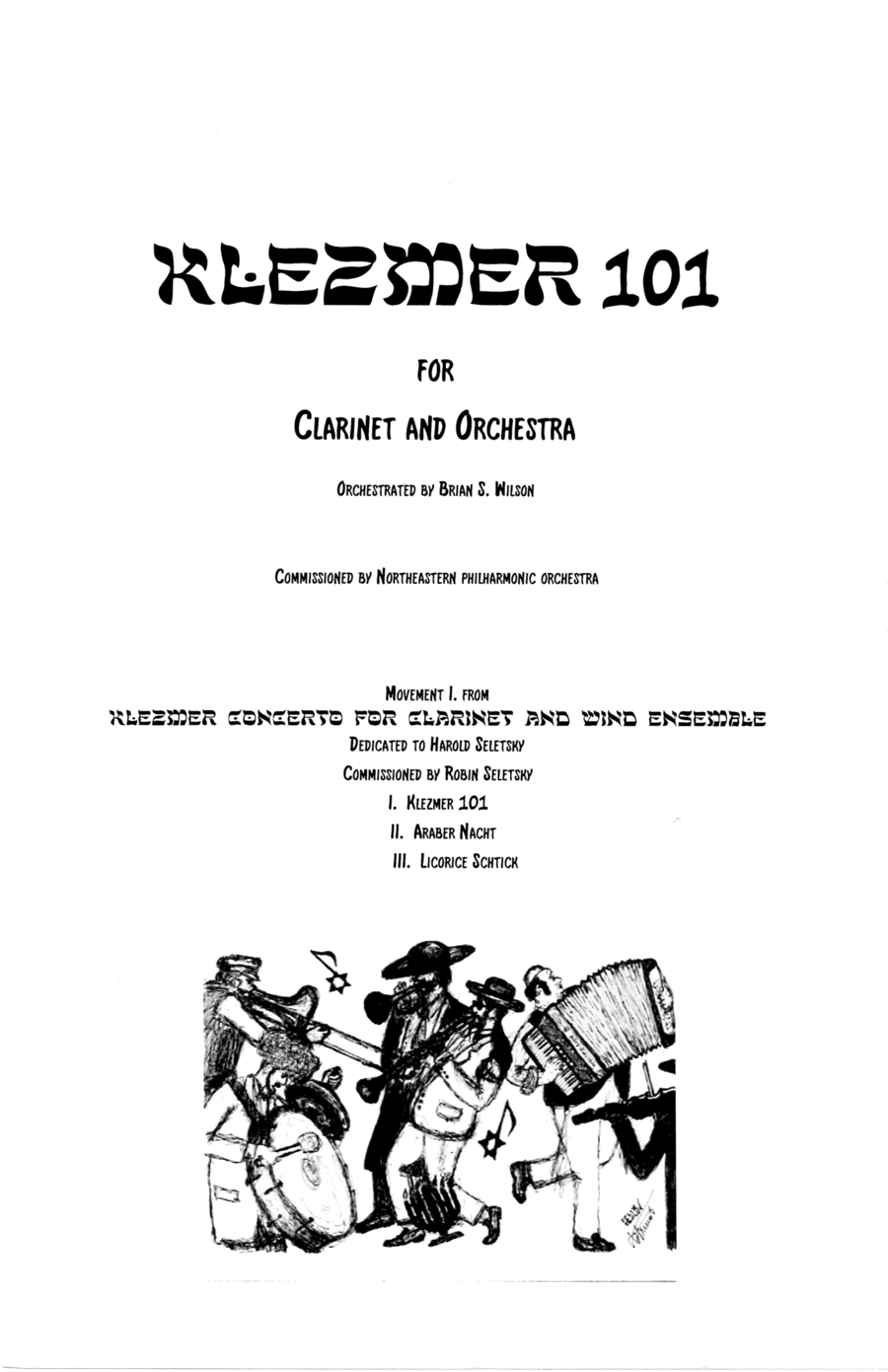 Klezmer Concerto for Clarinet and Wind Orchestra - Solo Clarinet part